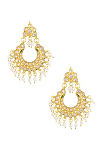 gold-polished-pearl-enhanced-earrings