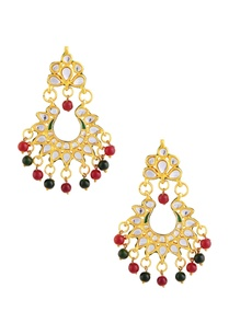 gold-polished-earrings-with-green-red-stones