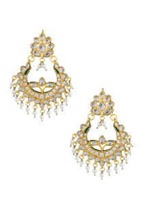 gold-polished-earrings-with-pearl-embellishments