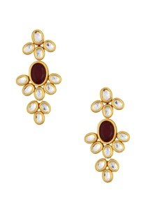 gold-plated-floral-kundan-necklace-earrings