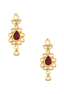 kundan-drop-pendant-necklace-with-earrings