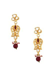 gold-plated-kundan-necklace-drop-earrings