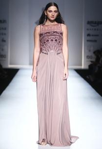 smokey-purple-embellished-draped-gown