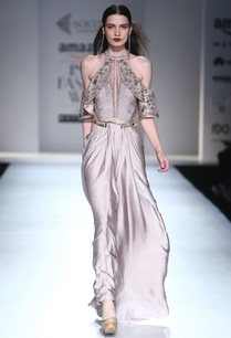 silver-grey-cold-shoulder-gown