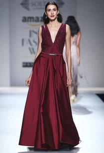 ox-blood-embellished-gown