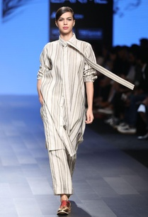 ivory-light-olive-striped-long-shirt
