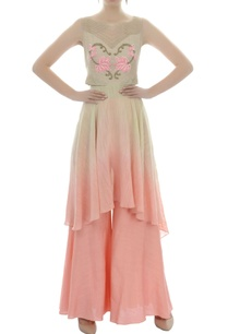 beige-and-pink-shaded-embroidered-tunic-and-palazzo