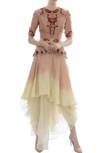 dusty-pink-embroidered-top-with-draped-organza-skirt