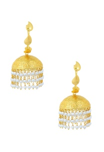 gold-finished-pearl-tassel-jhumkas