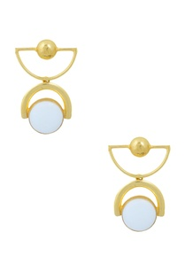 gold-finish-drop-earrings-with-stone