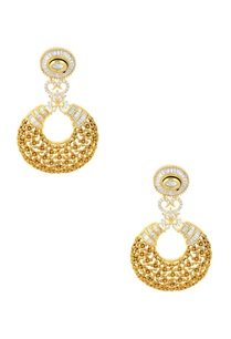 gold-finish-floral-drop-earrings