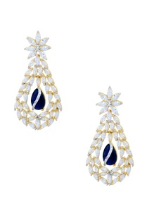 gold-polished-studded-drop-earrings