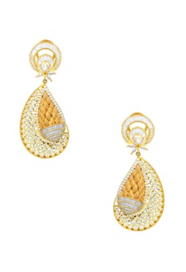gold-finish-studded-drop-earrings