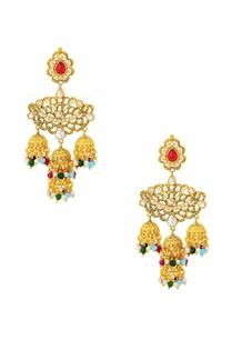 gold-finish-chandelier-earrings