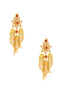 gold-finish-tassel-drop-earrings