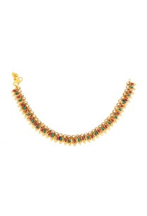 gold-finish-payals-with-studded-danglers