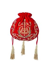 red-embroidered-potli-bag