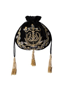 black-embroidered-potli-bag
