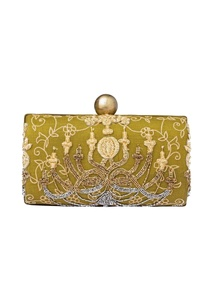 olive-green-hand-embroidered-clutch