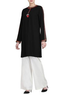black-embroidered-kurta-white-trousers