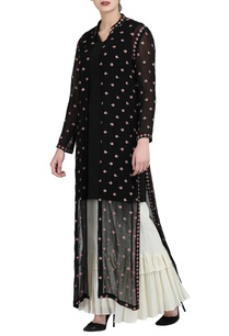 black-long-jacket-with-black-slip-ivory-palazzo