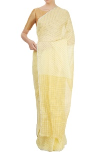 yellow-polka-dot-sari
