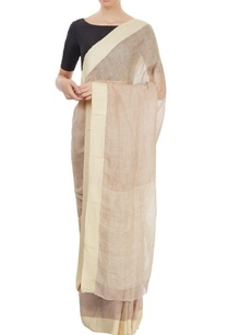 light-brown-linen-sari