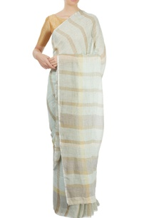 light-blue-striped-sari