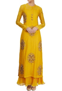 mustard-yellow-kurta-set-with-embroidery-in-gold-thread