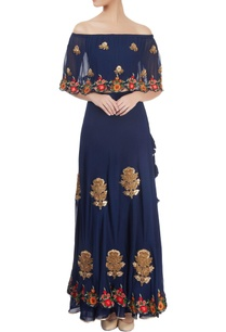 navy-blue-embroidered-skirt-set