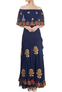 navy-blue-embroidered-skirt-set
