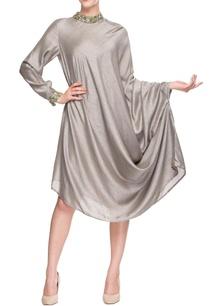silver-band-collar-dress