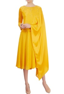mustard-yellow-layered-dress