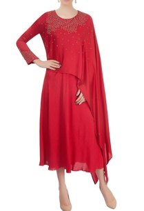 red-layered-dress