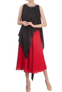 black-and-red-layered-dress