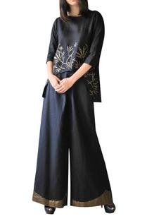black-linen-embellished-palazzo-pants