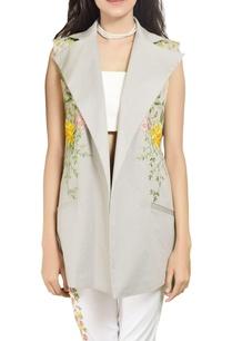 grey-embroidered-long-vest