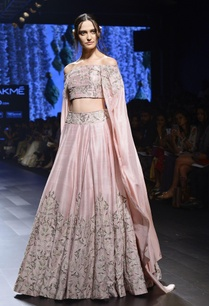 light-pink-zardosi-lehenga-blouse-with-cape