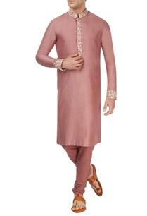 burnt-rose-pink-kurta-set