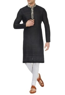 black-kurta-set