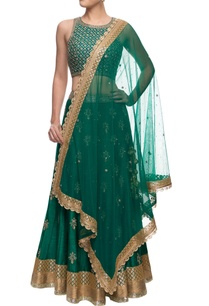 emerald-green-sequin-embellished-lehenga-set