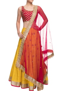mustard-yellow-red-zardosi-embroidered-lehenga-set