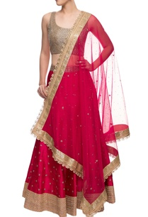 dark-pink-gold-embroidered-lehenga-set
