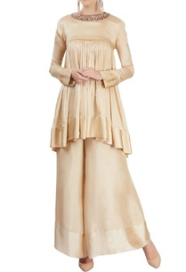beige-flared-kurta-with-palazzo-pants