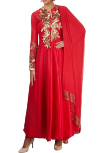 cherry-red-embroidered-anarkali-set