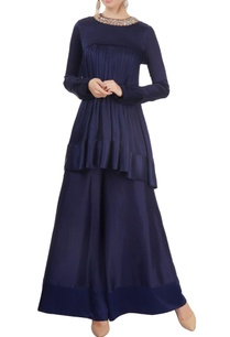 navy-blue-flared-kurta-with-palazzo-pants