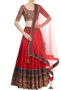 red-coral-embroidered-lehenga-set