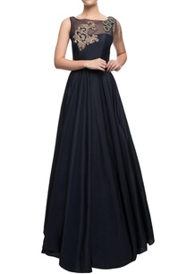 navy-blue-flared-gown-with-leave-motif-zardozi-and-crystal