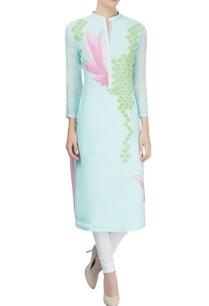 mint-blue-kurta-with-lotus-applique-and-threadwork