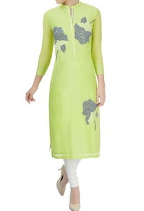yellow-kurta-with-thread-work-and-sequin-embroidery